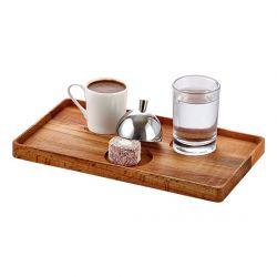 Groovy - Groovy Ahşap Standlı Türk Kahve Servis Takımı Dikdörtgen 22,5x14,5x2 Cm