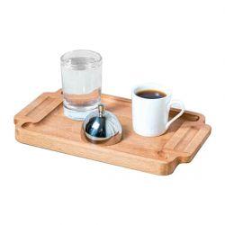 Groovy - Groovy Ahşap Standlı Türk Kahve Servis Takımı Dikdörtgen 25x15x2 Cm