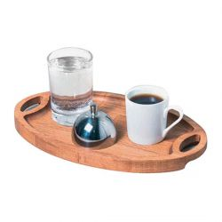 Groovy - Groovy Ahşap Standlı Türk Kahve Sunum Seti 25x15x2 Cm