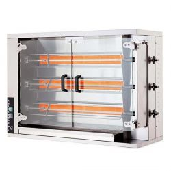 Öztiryakiler - Öztiryakiler Piliç Çevirme Makinesi 3 Şiş 12-15 Piliç Kapasite Elektrikli