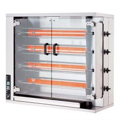 Öztiryakiler - Öztiryakiler Piliç Çevirme Makinesi 4 Şiş 16-20 Piliç Kapasite Elektrikli