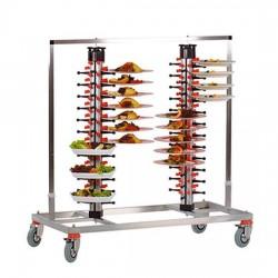 Plate Mate - Plate Mate Katlı Tabak Taşıma Arabası ikili 170 Tabak